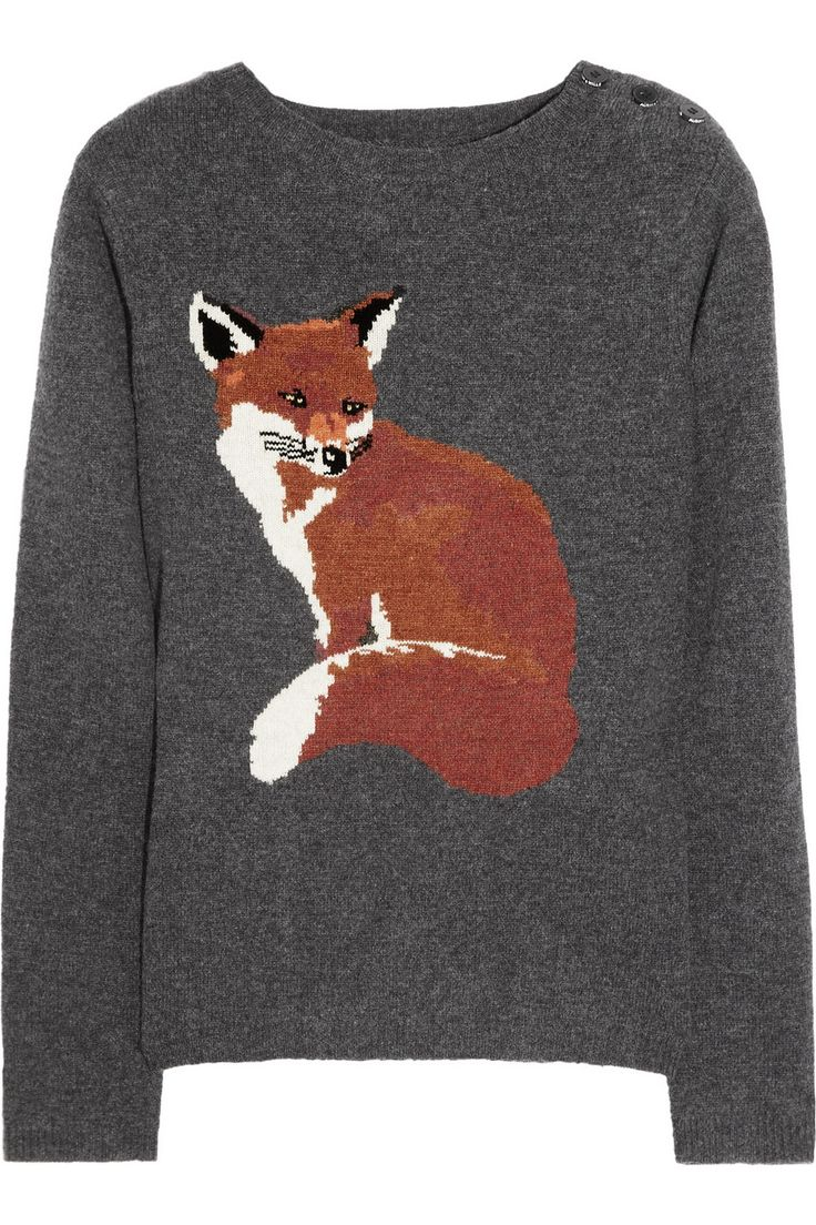 Aubin & Wills|Portland fox intarsia merino wool sweater|NET-A-PORTER.COM