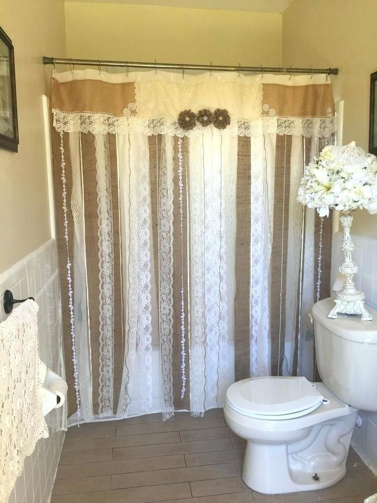 Rustic Bathroom Shower Curtains Ideas Intended For Decor Shabby Chic Shower Curtain Shabby Chic Shower Country Chic Shower