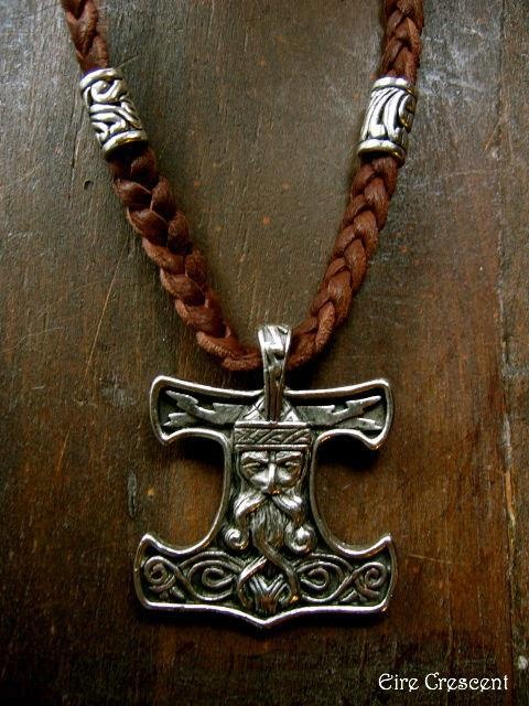 Thors Hammer on Leather.  Photo Only