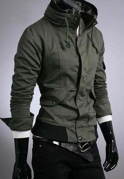 Fashion Long Sleeve Pockets Embellished Coat Green | Things to Wear | Pinterest | Mens fashion, Fashion and Clothes