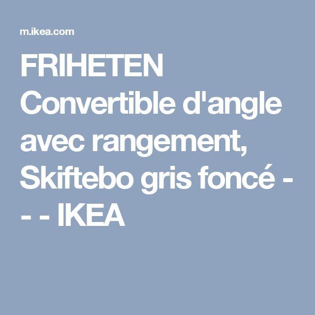 FRIHETEN Convertible d'angle avec rangement, Skiftebo gris foncé - - - IKEA