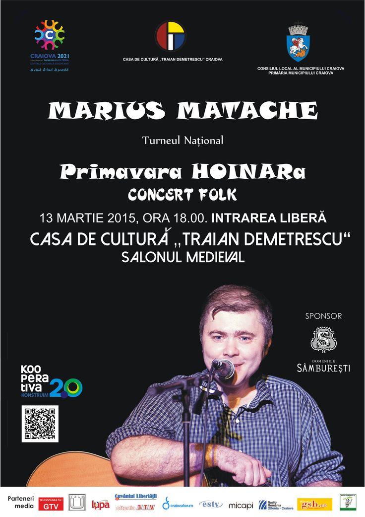 Pe 13 martie ne vedem la Craiova, la Casa de Cultura Traian Demetrescu