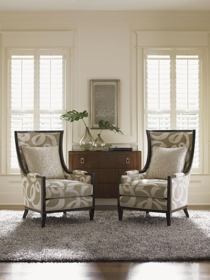 tower place greenwood wing chair with button tufting and exposed wood trim by lexington