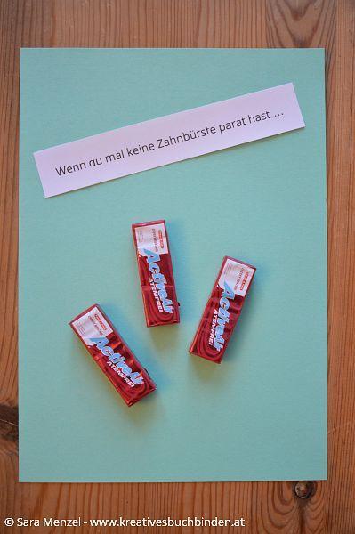 Wenn du mal keine Zahnbürste parat hast ...  Wenn Buch Ideen | Bastelanleitung | Geschenkidee
