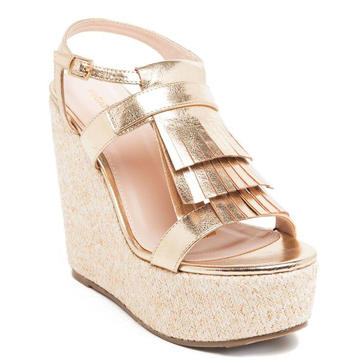 Gold #platform with gold #fringes #wedges