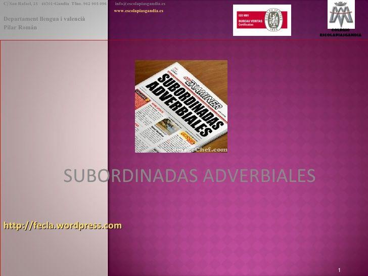 Subordinadas Adverbiales