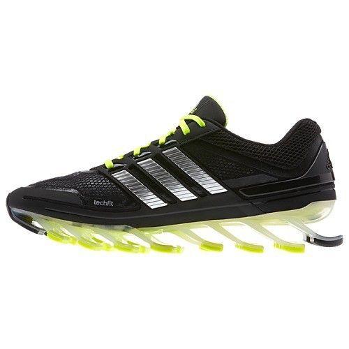 Adidas springblade negro y verde - amarillo