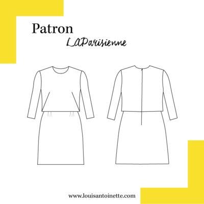Louis Antoinette - robe La Parisienne - patron pochette : 14,90€