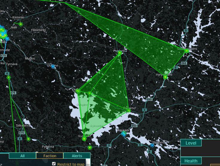 Paltamo, Puolanka, Vuolijoki ja Vaala muodostavat useita alueita Enlightened joukkueelle.