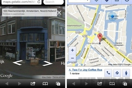 Google Maps Street View now live in iOS web app Google