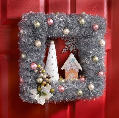This wreath was made by @Cathie Walker Filian. I am pinning it to this board because it is the inspiration for my wreath(s) that are on this board. Thanks Cathie! Love your work!