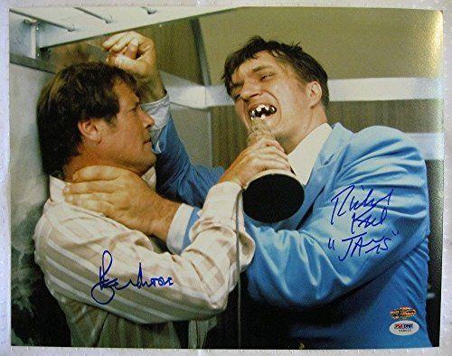 Roger Moore Richard Kiel Dual Signed James Bond 11x14 Moonraker Photo 007 Jaws Auto PSA/DNA COA OC H @ niftywarehouse.com #NiftyWarehouse #Bond #JamesBond #Movies #Books #Spy #SecretAgent #007