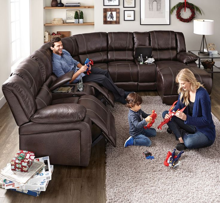 #SearsWishlist 'Aspen' 5-Piece Manual Reclining Sectional