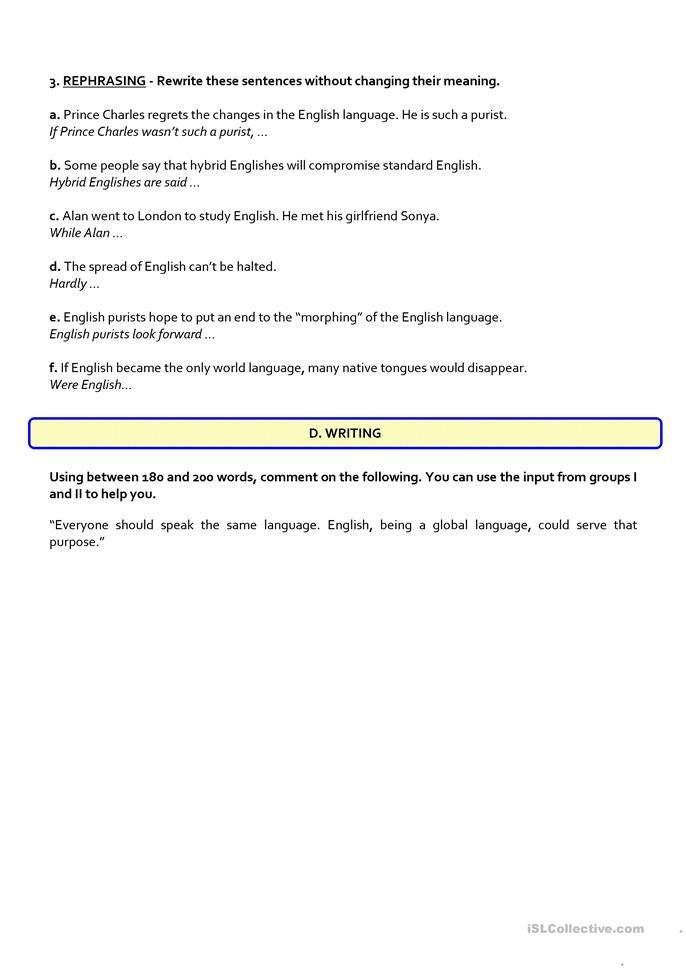 Global English 12th Exam English Esl Worksheets In 2020 12th Exam Reading Comprehension Test Exam 12th grade english worksheets