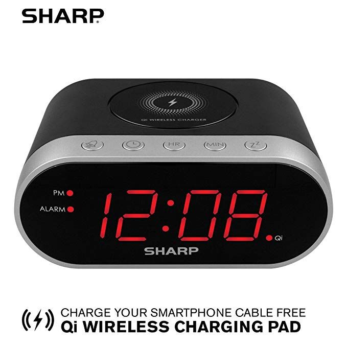 Sharp Spc679a Alarm With Wireless Charging Qi Certified Usb Charging For 2nd Device Review Alarm Usb Charging Wireless