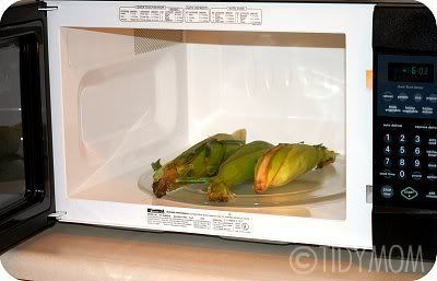 How to Cook Corn on the Cob in the Microwave (without removing husks - includes times too, which I always forget)