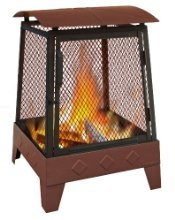 Fire Pit to keep his toes warm on cool nights..