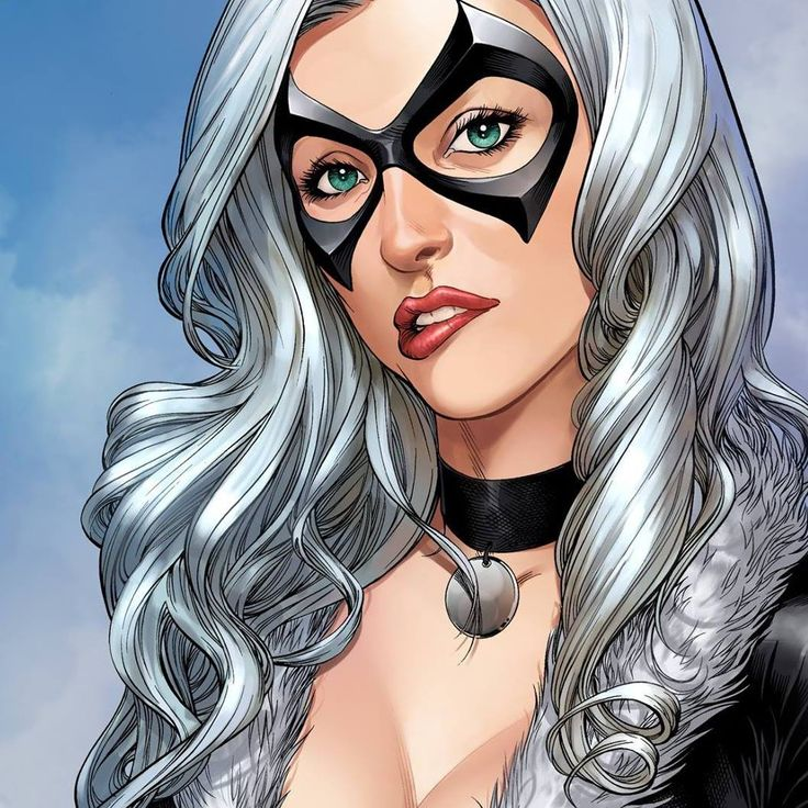 """Black Cat- From the spider man comics. She teamed up with """"Arcade"""" in the 1999 comics"""
