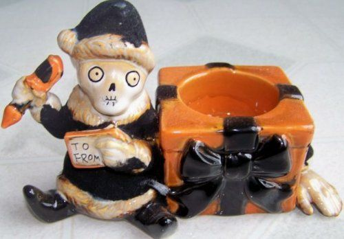 Boney Bunch Yankee Candle Halloween Christmas Santa Elf Tea Light Tealight Holder