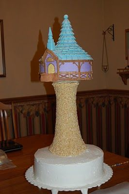 rapunzels tower cake- tutorial