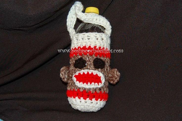 Free Crochet Pattern For Sock Monkey Pants : Posh Pooch Designs Dog Clothes: Sock Monkey Water Bottle ...