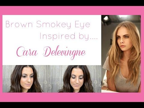 Brown Smokey Eye Make-up Tutorial ( μακιγιαζ ματιων) Inspired by Cara Delevingne 2015 - YouTube   #howto #brownsmokeyeye #caradelevigne #burberry #beautyblogger #makeuptutorial #howtosmokeyeye #celebritymakeup #smokeyeye