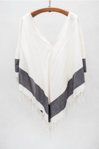 SU Poncho To CoverUp Your Bath Suit and Then Rock with White Denim