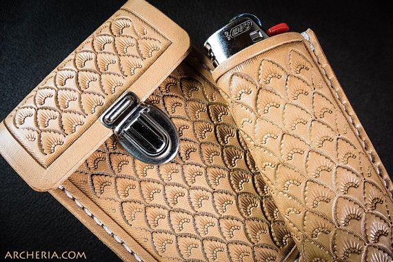 Handgefertigtes Leder Zigarettenetui mit oder ohne von ARCHERIA