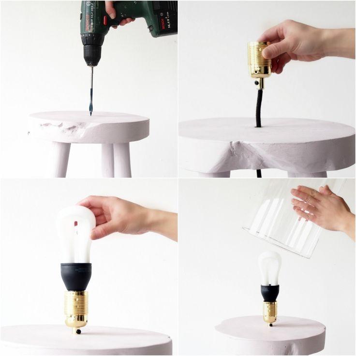 Une lampe design faite maison pour votre table de nuit - Lampe de table de nuit ...