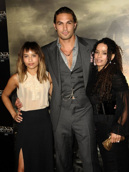 Wow. those are some good looking people    Lisa Bonet  After eight years of playing Denise Huxtable on The Cosby Show, Lisa Bonet eloped with singer Lenny Kravitz at the age of 20. The couple welcomed daughter Zoë Isabella Kravitz (now a successful actress in her own right) in 1988. After separating from Kravitz, Bonet married actor Jason Momoa and gave birth to two more children — Lola Iolani and Nakoa-Wolf Manakauapo Namakaeha