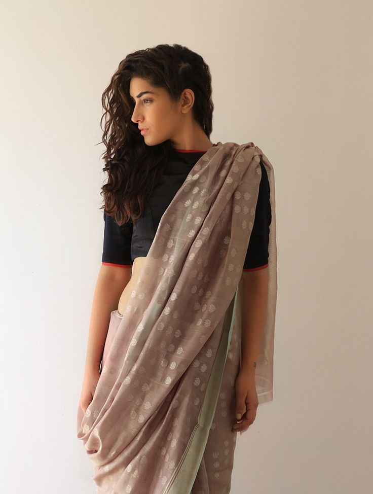 Earthy Lata Chanderi & Zari Saree By Raw Mango.