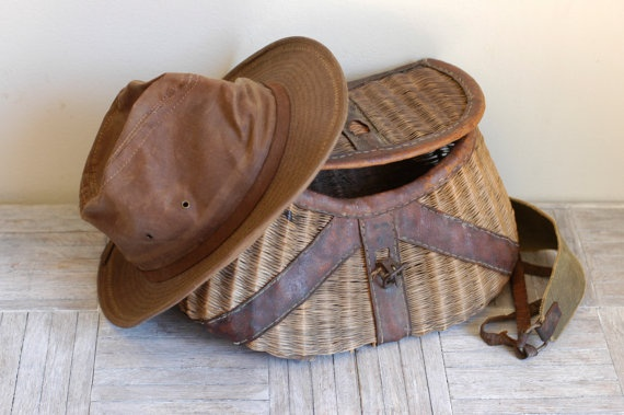 Using fly fishing creel baskets as storage for blake 39 s for Fly fishing creel