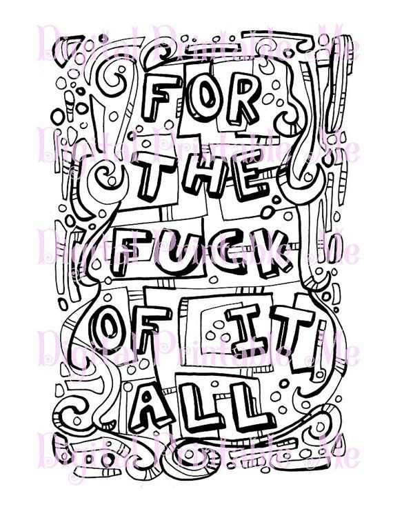 71 Best Swear Word Coloring Pages Images On Pinterest