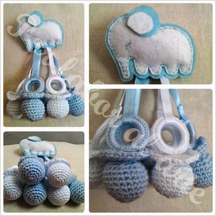 Por labor al arte chupetes para beb ganchillo crochet - Labores de crochet para bebes ...