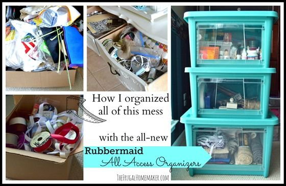 Organizing my craft supplies with Rubbermaid All Access Organizers #AllAccessOrganizer #PMedia #sp