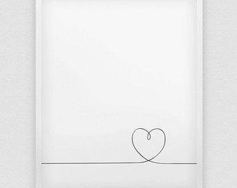 Herzen drucken / / lieben Print / / schwarz / weiß von spellandtell