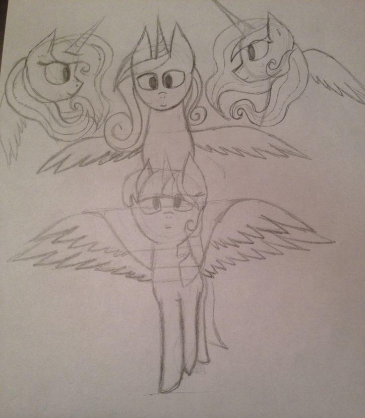 My Little Pony Princesses Work in progress 28.8.2015