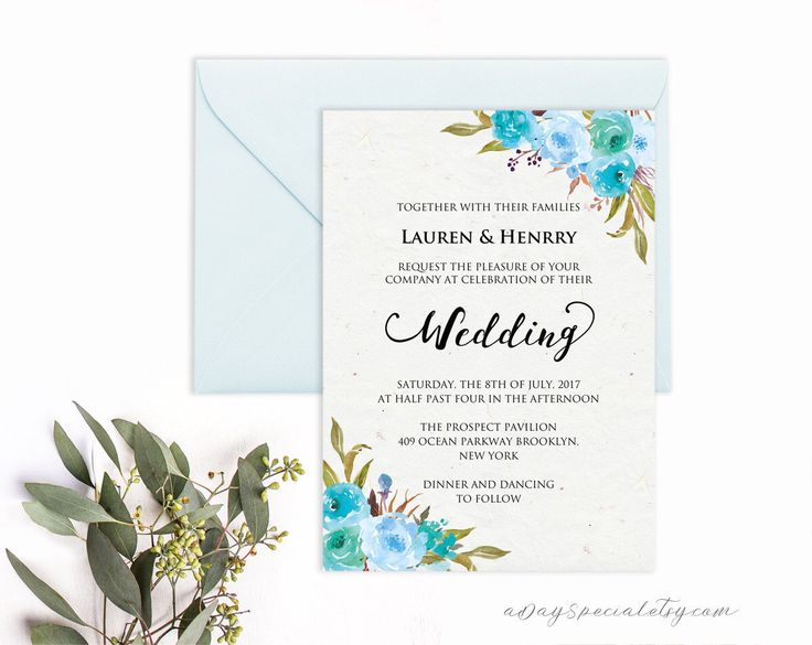 Aqua Blue Wedding Template, Aqua Blue Flower with Rice Paper Background, Printable Wedding Invitation, Vistaprint, DIY PDF Download by aDaySpecial on Etsy https://www.etsy.com/au/listing/497657030/aqua-blue-wedding-template-aqua-blue