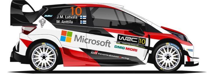 WRC | TOYOTA | #10 | Jari-Matti Latvala - Miikka Anttila ( All )