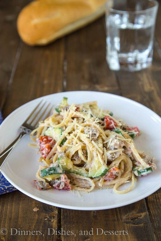 Creamy Tomato, Zucchini & Ricotta Pasta - a quick and easy weeknight dinner