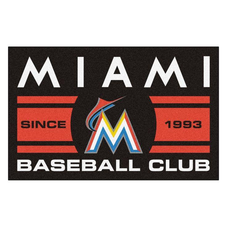 "MLB Miami Marlins Baseball Club Starter Rug 19""x30"""