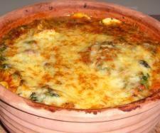 Rezept Ravioli in Spinat -Tomatensoße, Thermomix meets Römertopf von Cermix - Rezept der Kategorie Hauptgerichte mit Gemüse