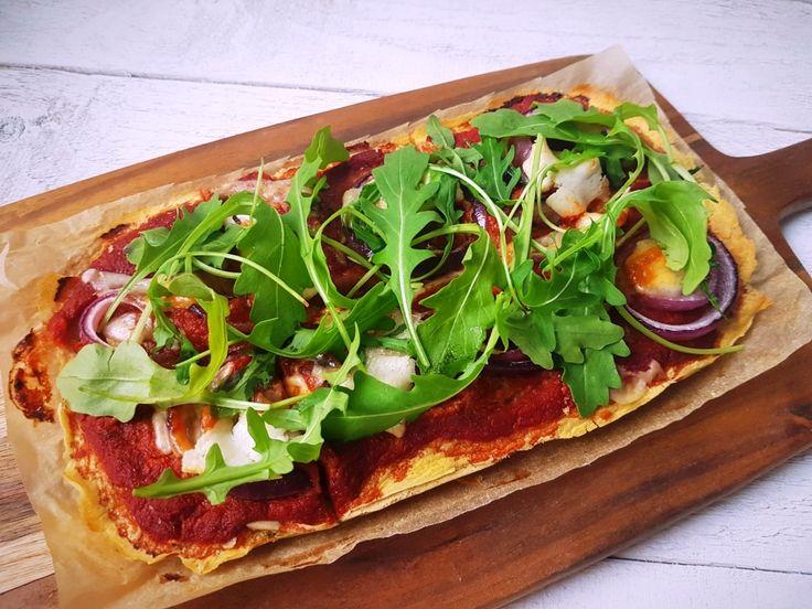 Pizzatészta csicseriborsólisztből (vegán, gluténmentes) - organichicks