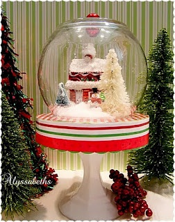 Alyssabeths: Christmas Cloche - Dollar Store Crafting diy