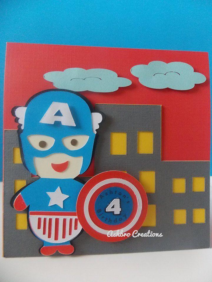 Ashbro Creations -Captain america Invitation
