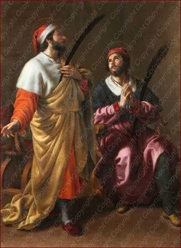 Tela dei santi medici Cosma e Damiano di Allessandro Turchi