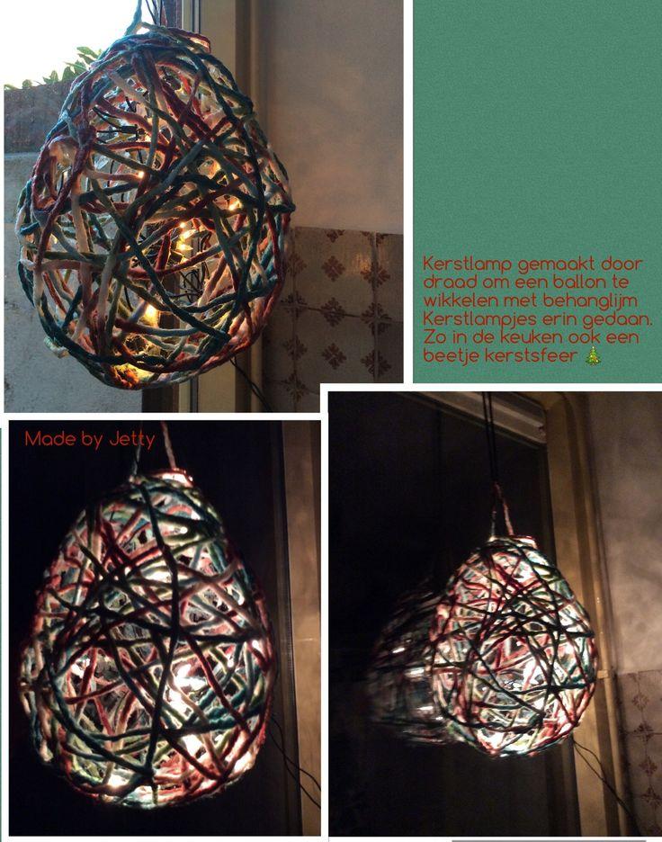 Kerstlamp of voor zomers onder de pergola.