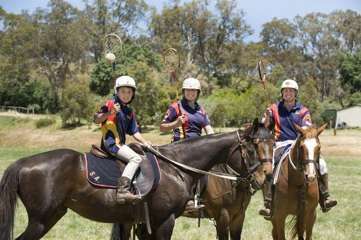 The sport of polocrosse originated in Australia in 1939 and currently boasts over 4,000 players nationwide. Described as a mix between polo, lacrosse and netball, polocrosse is played on horseback and there are currently four clubs operating in South Australia. Photo: Polocrosse enthusiasts Dylan Prior, Julie Morris and Clint Prior. Photo by John Hemmings. http://adelaidehills.realviewtechnologies.com/