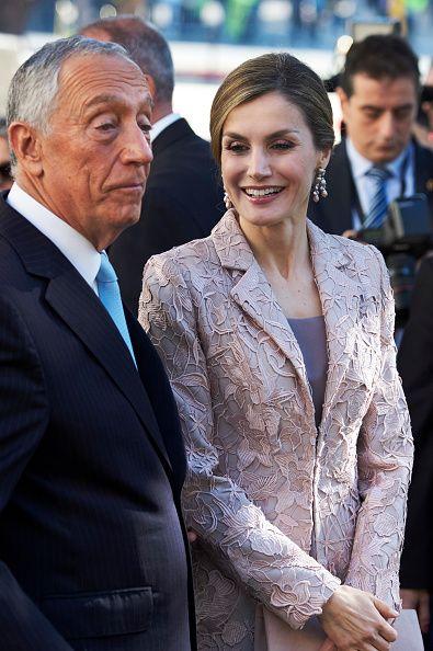 Nov. 28, 2016 - Spanish Royal State Visit to Portugal. King Felipe, Queen Letizia and President of Portugal Marcelo Rebelo de Sousa visit the Chamber of Commerce of Porto