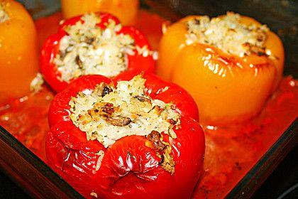 Gefüllte Paprika vegetarisch mit Reis